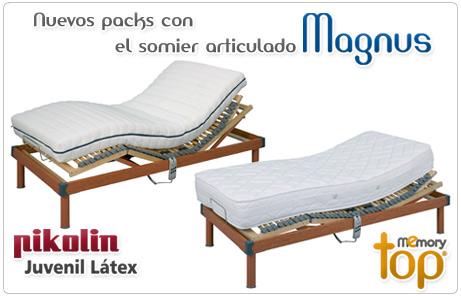 packs con somier articulado Magnus