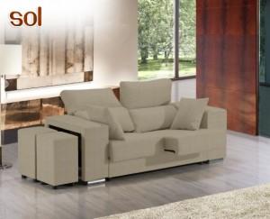 sofá de tela Sol