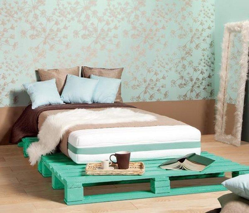 decoracion con palets cama