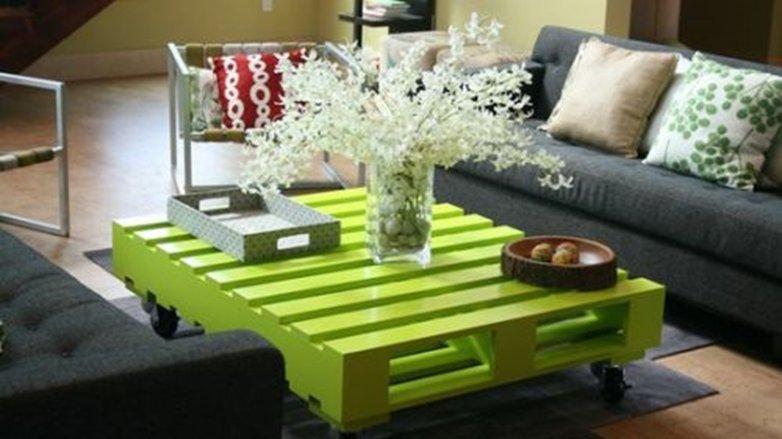 decoracion con palets verde