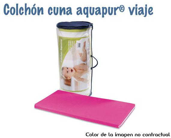 colchon-cuna-bebe-aquapur-viaje-fucsia
