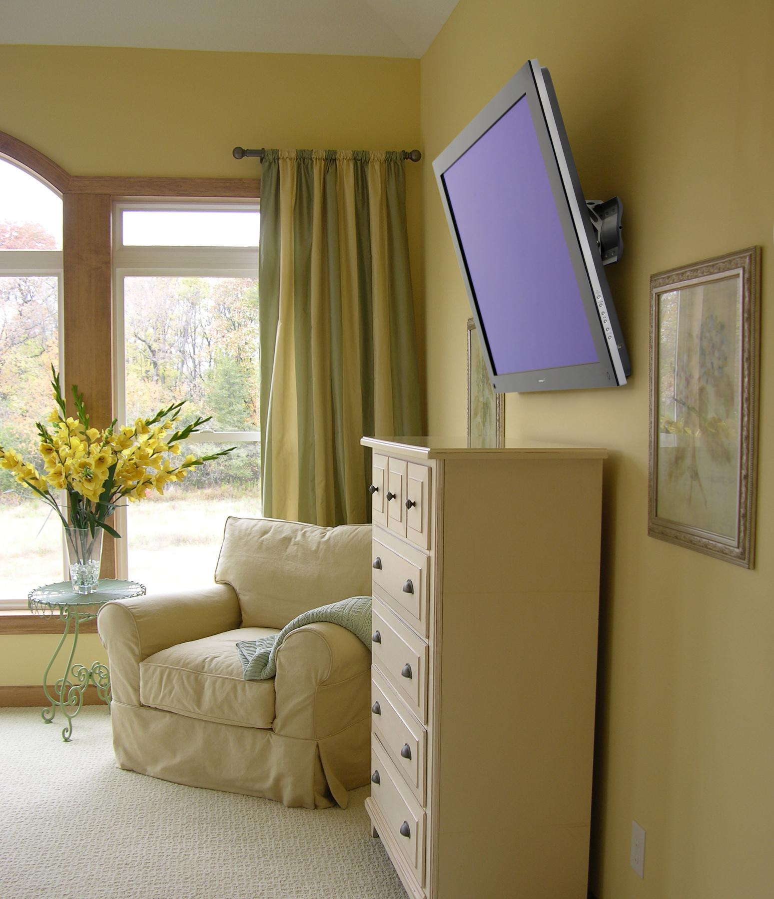 televisión en la habitación
