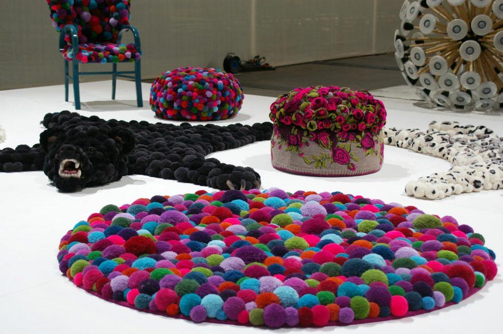 Proyectos DIY - alfombra pompones- La Tienda Home