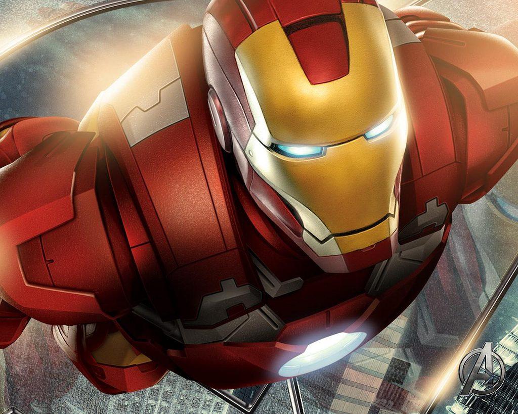 Dibujo de Iron Man en los vengadores