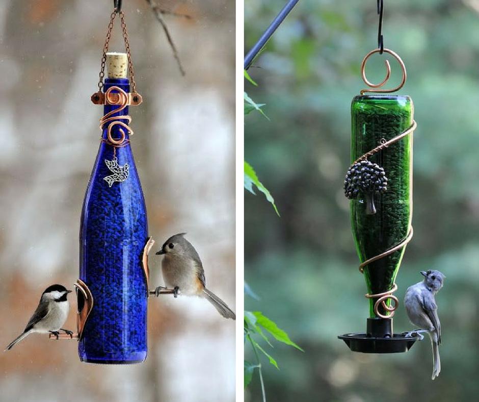 Alimentador para pájaros con botella de cristal - La Tienda Home