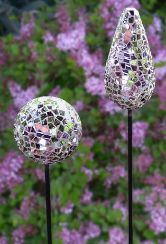 Accesorios decoración jardín con CD reutilizados - La Tienda Home