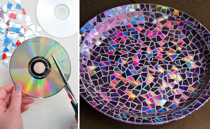 Bandeja con CD reutilizados - La Tienda Home