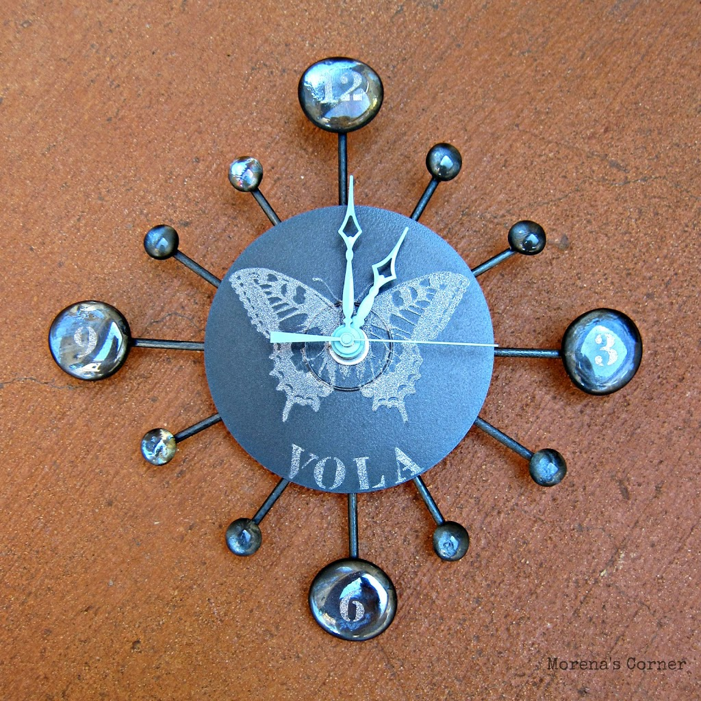 Reloj hecho con un CD - La Tienda Home