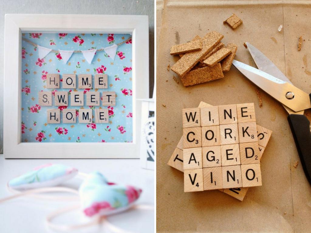 Decoración piezas Scrabble - La Tienda Home
