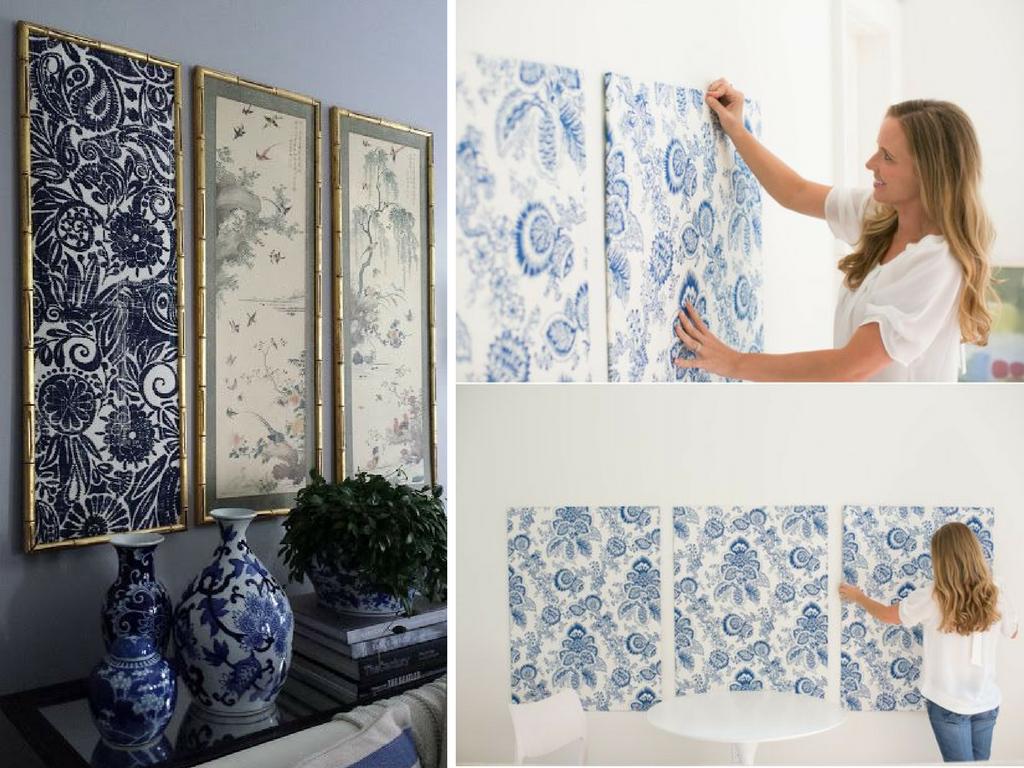 Reutilización de textiles para cuadros - La Tienda Home