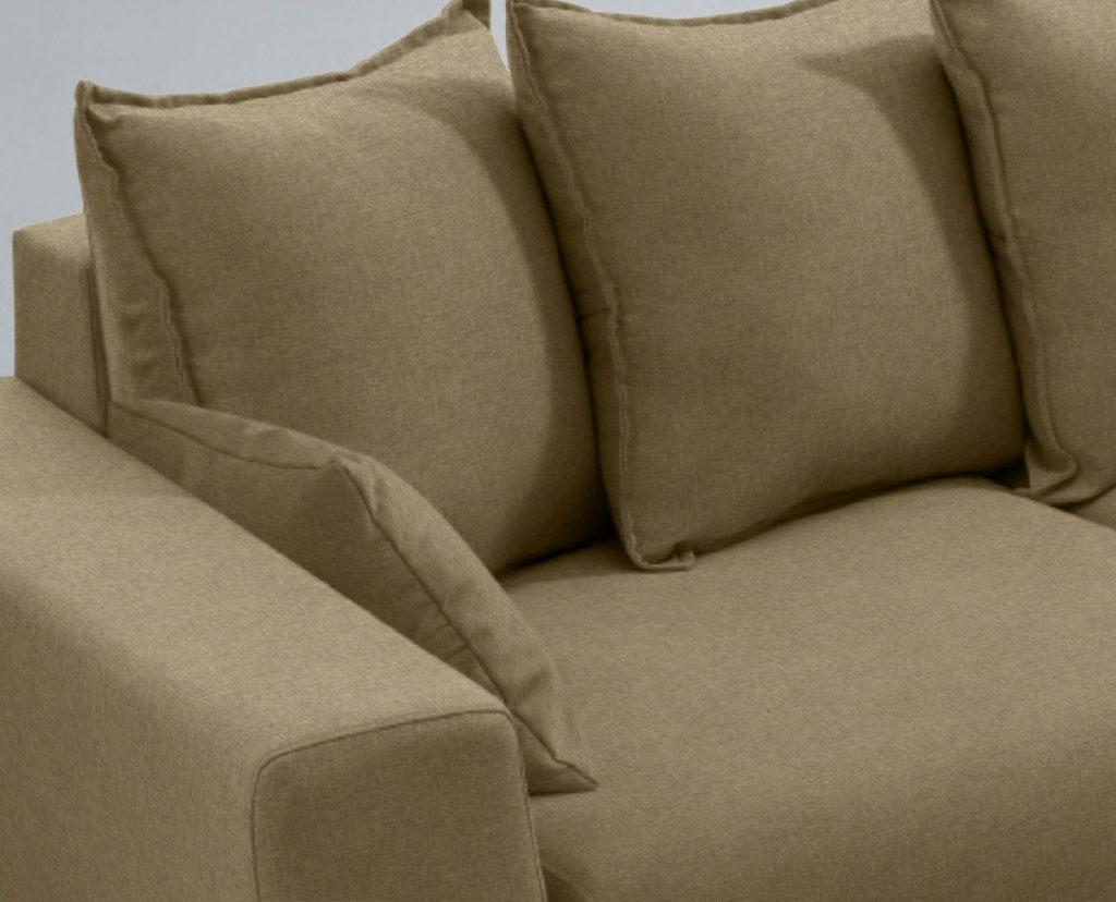 Detalle cojines sofá desenfundable - La Tienda Home