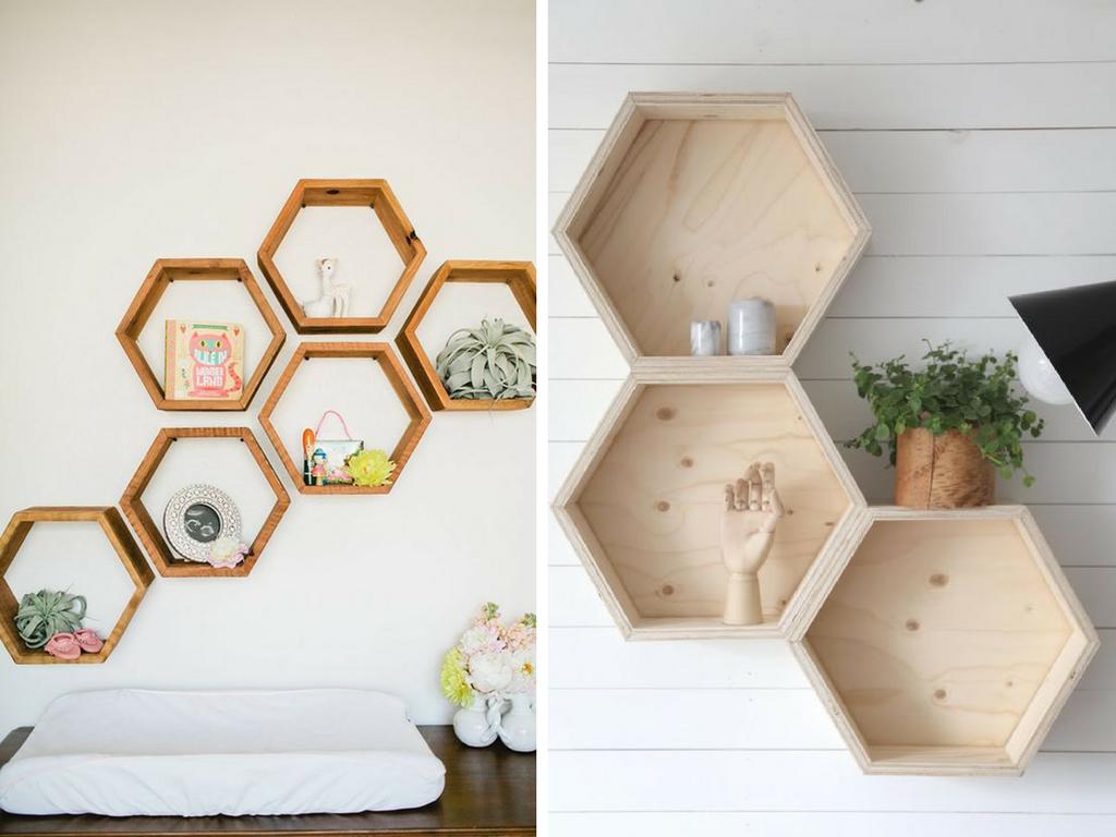 Estanterías hexagonales panal de abeja - La Tienda Home