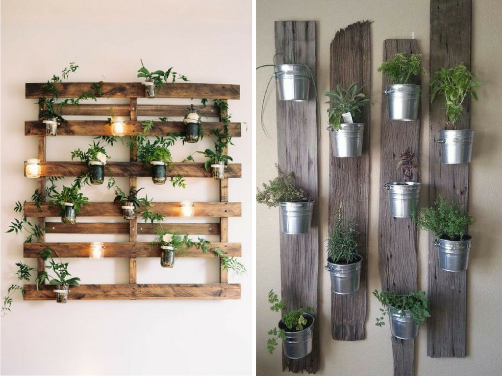8 ideas de decoraci n diy para salones blog de la tienda - Decoracion de jardin con palets ...